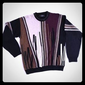 Protege' Vintage Cosby Sweater 3D Brown Black